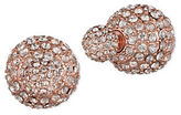 Anne Klein Two-Way Pave Stud Earrings