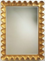 The Well Appointed House Carvers Guild Wave Moderne Wall Mirror in Gold