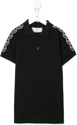 Philipp Plein Junior Logo Print Polo Shirt