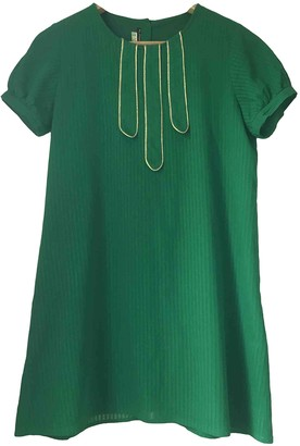 Les Prairies de Paris Green Cotton Dress for Women