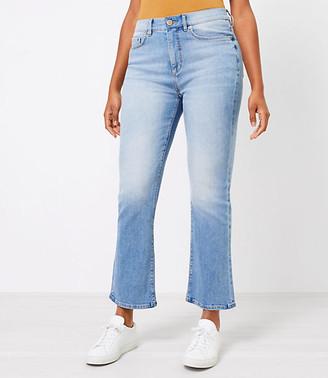 LOFT The Curvy High Waist Kick Crop Jean in Classic Indigo Wash