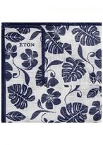Eton Off White Printed Cotton Pocket Square
