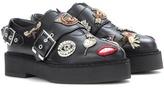 Alexander McQueen Embellished platform monk shoes