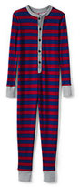 Classic Toddler Boys Knit Union Suit-Deepest Cobalt/Rich Red Stripe