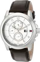 Tommy Hilfiger Men's 1710294 Stainless Steel Watch with Leather Band