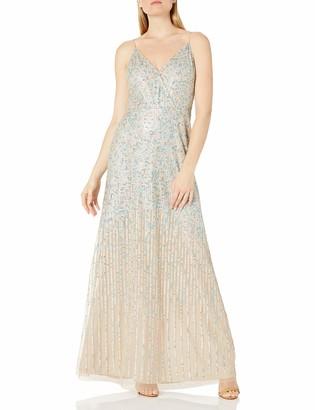 Adrianna Papell Women's Sequin Spag Strap Slip Dress
