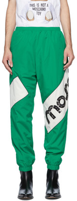 Moschino Green Macro Broken Logo Track Pants