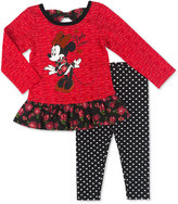Nannette 2-Pc. Minnie Mouse Top & Leggings Set, Baby Girls (0-24 months)