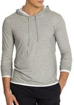 Vince Basic Double-Layer Hoodie