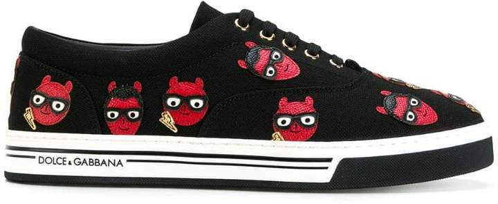 Dolce & Gabbana devil designer patch Brooklyn sneakers