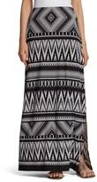 Chico's Knit Kit Tribal Chevron Maxi Skirt