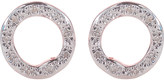 Monica Vinader Riva 18ct rose-gold vermeil pavé diamond circle stud earrings