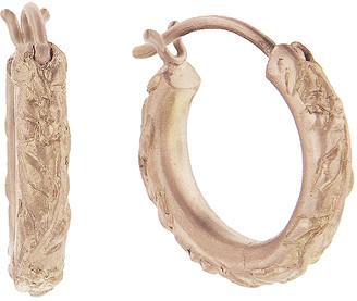 Cathy Waterman Dogwood Hoop Earrings - Rose Gold