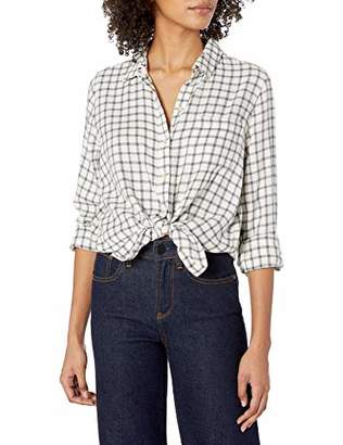 Lucky Brand Women's Long Sleeve Button Up one Pocket Classic Plaid Shirt