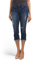 Roll Cuff Jeans With Destruction