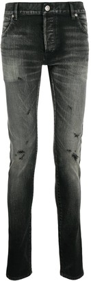Balmain Ripped-Detail Skinny Jeans