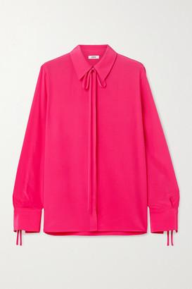 Jason Wu Tie-neck Silk Crepe De Chine Blouse - Bright pink