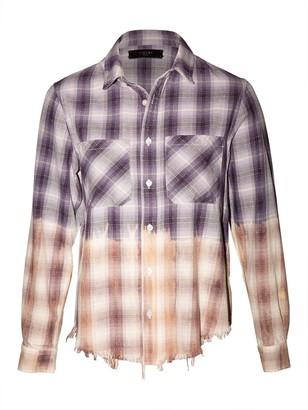 Amiri Lurex Ombre Plaid Shirt, Purple