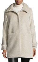 Jane Post Long-Sleeve Alpaca-Blend Snap-Front Coat