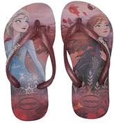 Havaianas Slim Frozen Flip Flops (Toddler/Little Kid/Big Kid) (Autumn Rose) Girls Shoes