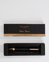 Ted Baker Black Ballpoint Twist Pen In Gift Box