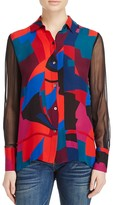 Ramy Brook Elissa Abstract Print Top