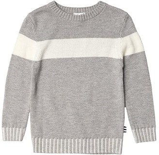 Splendid Littles Rib Sweater (Toddler/Little Kids/Big Kids) (Light Charcoal Heather) Boy's Clothing