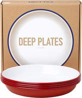 Falcon Deep Plate - Set of 4 - Pillarbox Red