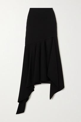 Thierry Mugler Asymmetric Wool Skirt - Black