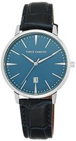 Vince Camuto Men's VC/1073LBSV The Associate Navy Blue Croco-Textured Leather-Strap Watch