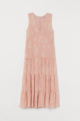 H&M Patterned Long Dress