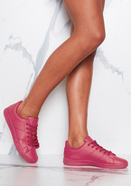 Missy Empire Matilda Hot Pink Leather Trainers