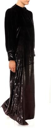 L'Autre Chose Velvet Split Dress
