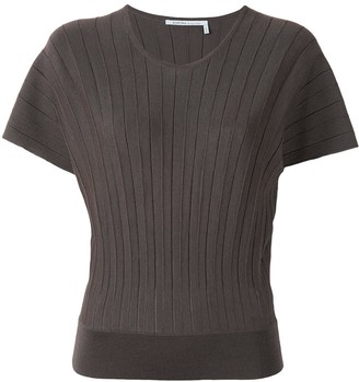 Agnona Ribbed Scoop Neck Top