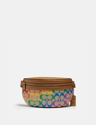 Coach Bethany Belt Bag In Rainbow Signature Canvas