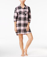 Alfani Plaid Boyfriend Sleepshirt, Only at Macy's