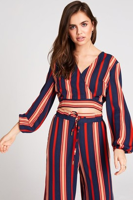 Girls On Film Ginny Stripe Crop Top Co-Ord