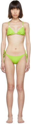 Solid and Striped Green The Charlotte Bikini