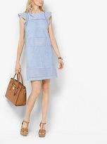 Michael Kors Eyelet-Embroidered Shift Dress