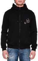 Dolce & Gabbana Horseshoe Full-Zip Hoodie, Black