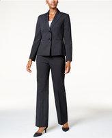 Le Suit Two-Button Pinstriped Pantsuit
