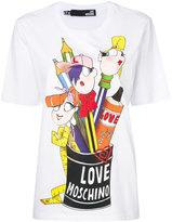 Love Moschino printed T-shirt - women - Cotton - 40