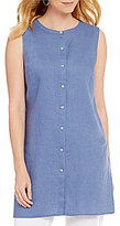 Preston & York Sloan Sleeveless Linen Tunic