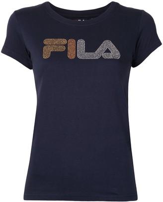 Fila short sleeve rhinestone logo T-shirt