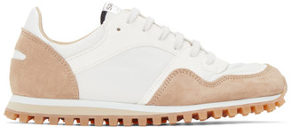 Spalwart White and Tan Marathon Trail Low WBHS Sneakers