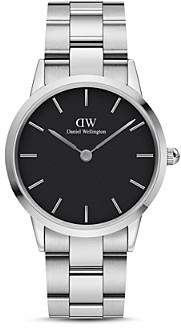 Daniel Wellington Black Dial Stainless Steel Link Bracelet Watch, 36mm
