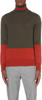 Vivienne Westwood Colour-block wool turtleneck jumper