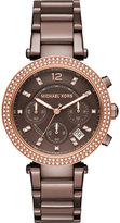 Michael Kors MK6378 parker crystal-embellished stainless steel chronograph watch