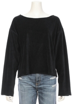KENDALL + KYLIE Velour Off The Shoulder Sweatshirt