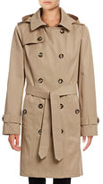 London Fog Classic Trench Coat with Hood